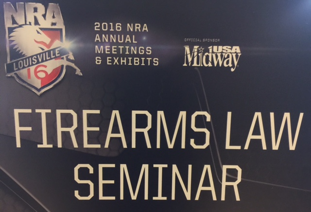 2016 annual firearms law seminar